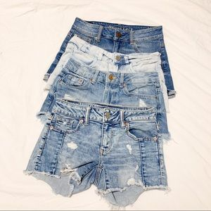 Bundle of 4 Jean Shorts - American Eagle and H&M